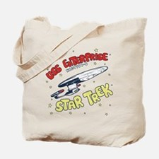 USS Enterprise- DESIGN DISTRESSED Tote Bag