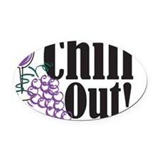 chillOutOnWHT Oval Car Magnet