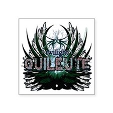"Twilight Quileute Green Square Sticker 3"" x 3"""