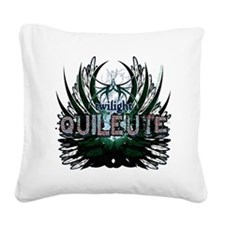 Twilight Quileute Green Square Canvas Pillow