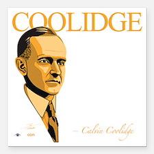 """FQ-08-D_Coolidge-Final Square Car Magnet 3"""" x 3"""""""
