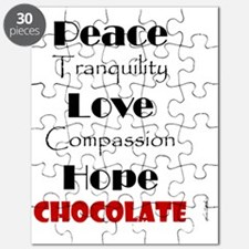 peace_love_chocolate_transpblack Puzzle