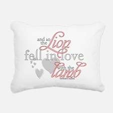 FMH-lionlamb1 Rectangular Canvas Pillow