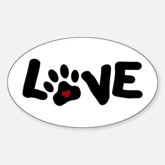 Love (Pets) Sticker (Oval)