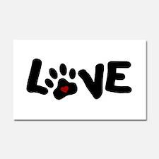 Love (Pets) Car Magnet 20 x 12