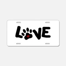 Love (Pets) Aluminum License Plate