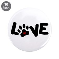 """Love (Pets) 3.5"""" Button (10 pack)"""