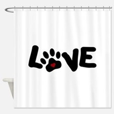Love (Pets) Shower Curtain