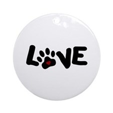 Love (Pets) Ornament (Round)