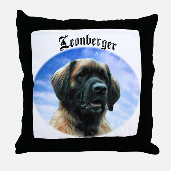 Leonberger Clouds Throw Pillow