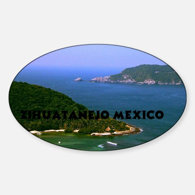Zihuatanejo harbor2 copy Sticker (Oval)