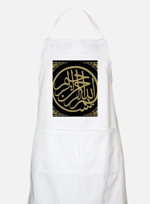 bismillah_gold_filla_on_black_lg Apron