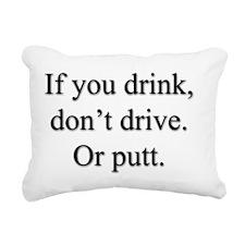 PuttDriveLT Rectangular Canvas Pillow