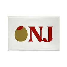 Olive (I Love) NJ Rectangle Magnet