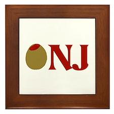 Olive (I Love) NJ Framed Tile