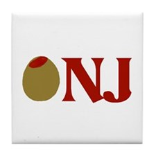 Olive (I Love) NJ Tile Coaster