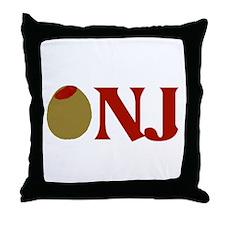 Olive (I Love) NJ Throw Pillow