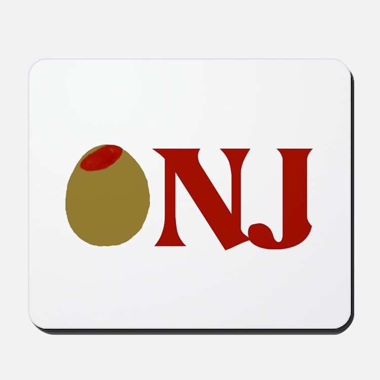 Olive (I Love) NJ Mousepad