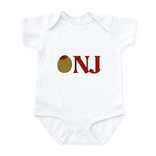 Olive (I Love) NJ Infant Bodysuit