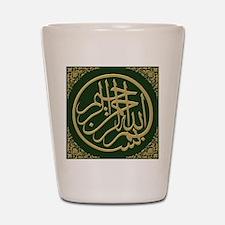 bismillah_gold_filla_on_green_lg Shot Glass