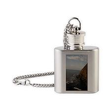 Blow Hole Ensenada Mexico-2.5x3.5 Flask Necklace