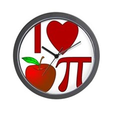 I Heart Apple Pi Wall Clock