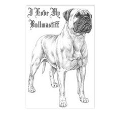 THE Bullmastiff Postcards (Package of 8)