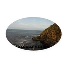 Blow Hole Ensenada Mexico-16x20 Oval Car Magnet