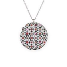 sushi dark Necklace Circle Charm