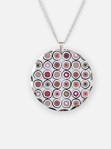sushi dark Necklace Circle Charm