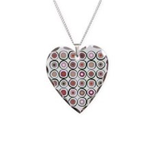 sushi dark Necklace Heart Charm