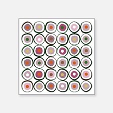 "sushi dark Square Sticker 3"" x 3"""
