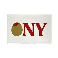 Olive (I Love) NY Rectangle Magnet