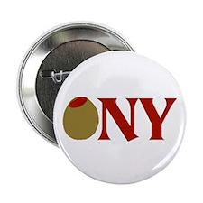 """Olive (I Love) NY 2.25"""" Button"""