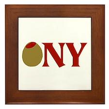 Olive (I Love) NY Framed Tile
