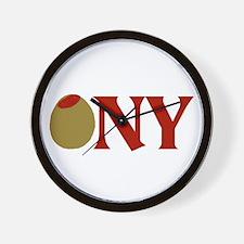 Olive (I Love) NY Wall Clock