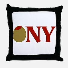Olive (I Love) NY Throw Pillow