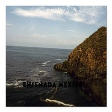 "Blow Hole Ensenada Mexic Square Car Magnet 3"" x 3"""