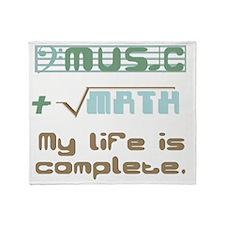 music-math2 Throw Blanket