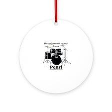 Pearl-design-1 Round Ornament