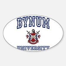 BYNUM University Oval Decal