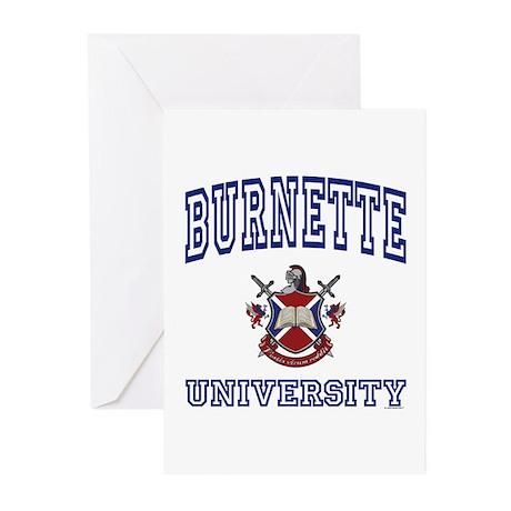 BURNETTE University Greeting Cards (Pk of 10)
