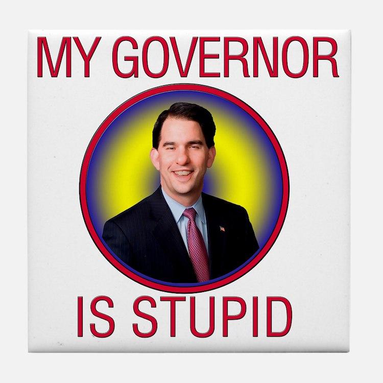 stupid-gov Tile Coaster