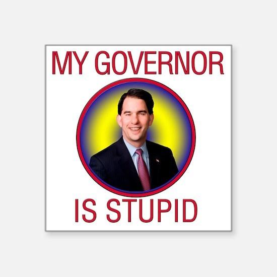 "stupid-gov Square Sticker 3"" x 3"""