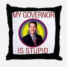 stupid-gov Throw Pillow