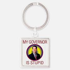 stupid-gov Square Keychain