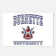 BURNETTE University Postcards (Package of 8)
