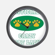 official crazy cat lady Wall Clock