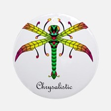 Meadowlantern Dragonfly pillow Round Ornament