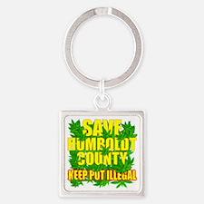 save_humboldt_SHIRT_DK_cp Square Keychain